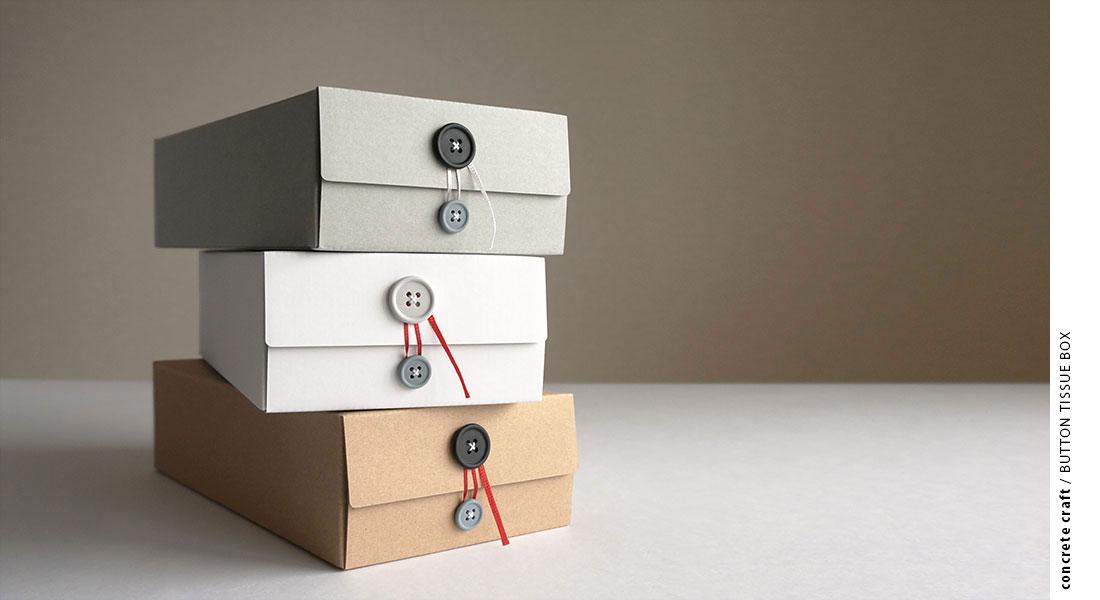 concrete craft / BUTTON TISSUE BOX